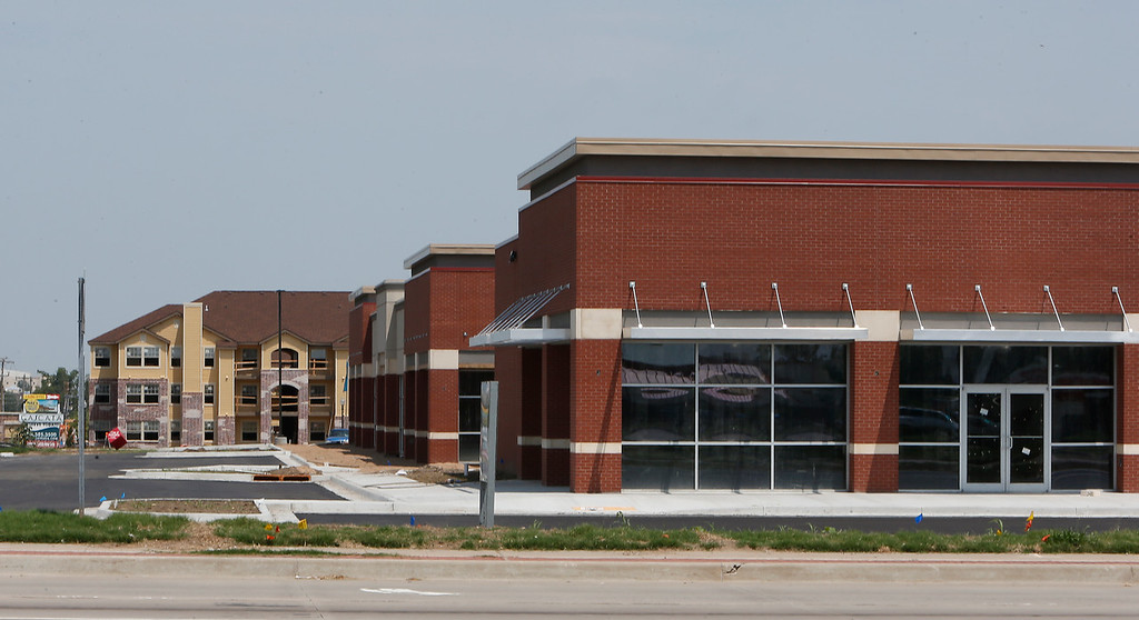 Construction nears completion on the Meadowbrook Chase center in south Tulsa
