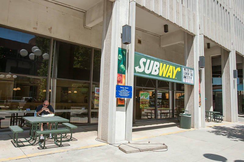Subway resturaunt in downtown Oklahoma CIty, OK.