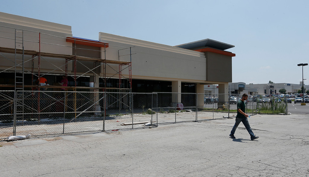 Renovation Continues at the 1700 Yale Mall project in midtown Tulsa.