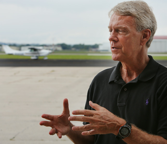Bill Christiansen discusses the increase in student pilots at the R. L. Jones airport in Jenks.
