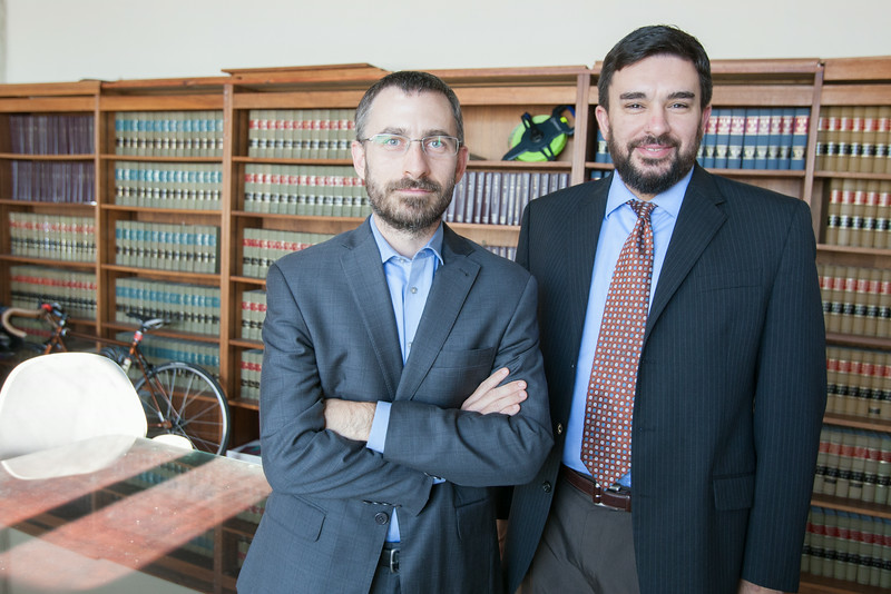 Executive Director Ryan Kiesel and Legal Director Brady Henderson with the ACLU of Oklahoma.