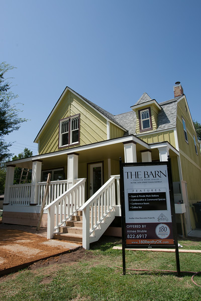 1601 N Blackweder, known as The Barn, in Oklahoma City is under renovations.
