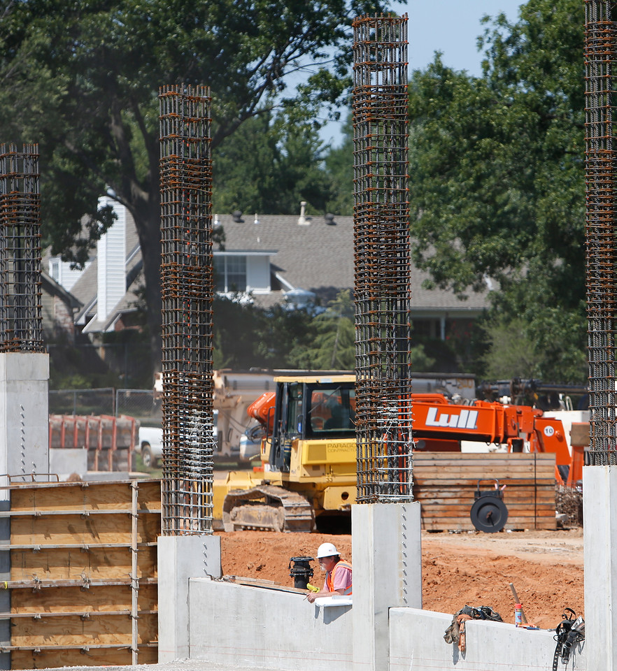 Work continues on the Geophysical Resources Associations campus expansion in south Tulsa.