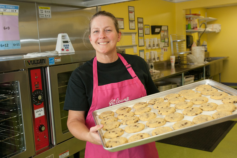 Lauri Hess, owner of Eileen's Cookies located at 9044 S Sooner Road in Oklahoma City, OK.