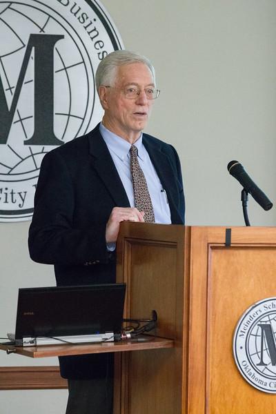 Robert Dauffenbach, economics professor at University of Oklahoma, Price College of Business.