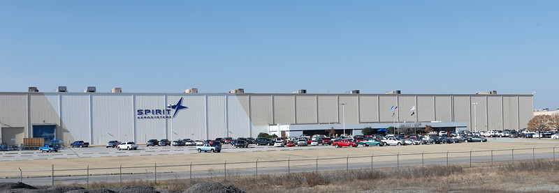 The Spirit Aerosystems building at the Tulsa International Airport.