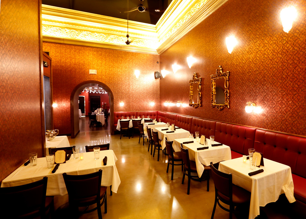 The dinning room of La Crepe Nanou in Bixby.