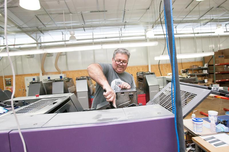 Rick Onstott, pressman at Texoma Print Services in Durant, OK.