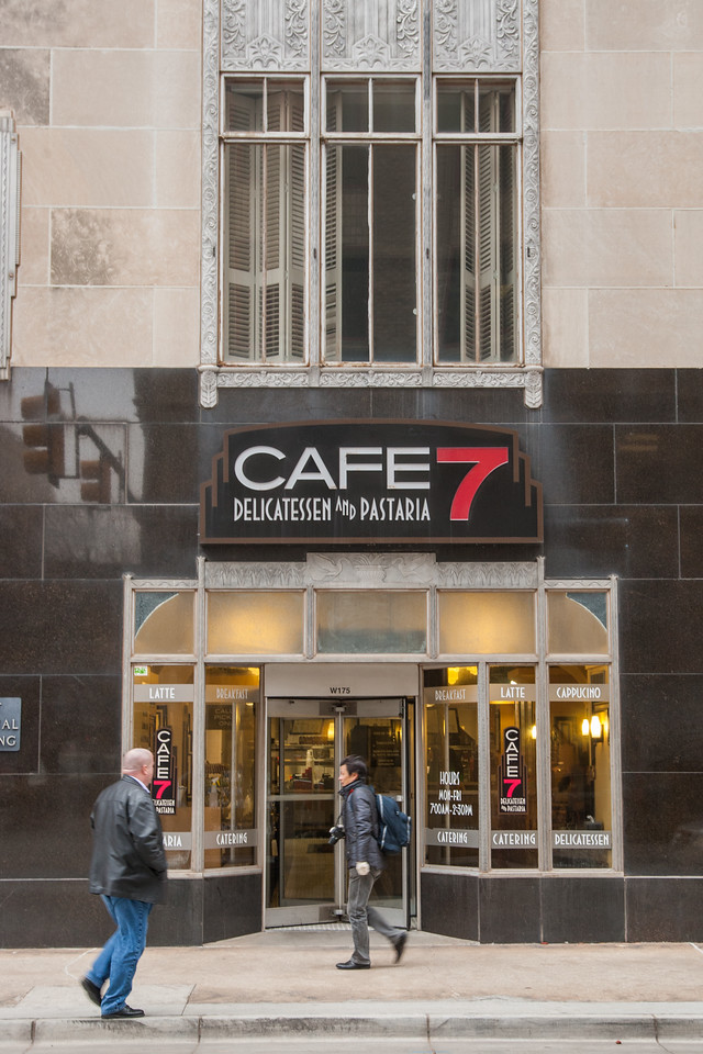 Cafe 7 in the First National Building in downtown Oklahoma CIty.