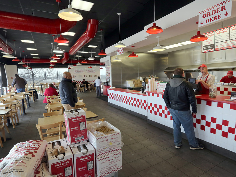 Five Guys Burgers and Fries expects to open its second Tulsa area restaurant in mid-March.