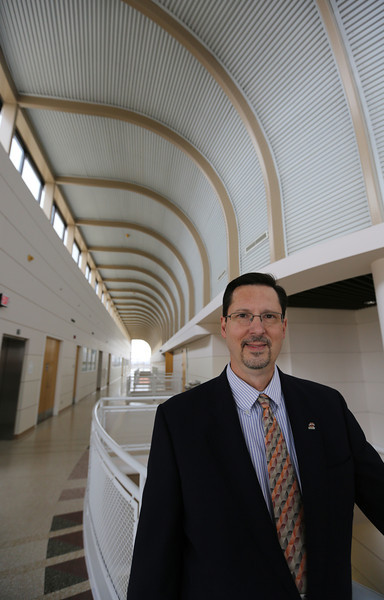 Dr. Bill Path,pauses for a photo at the Donald W. Reynolds Center on the Oklahoma State University Institute of Technology.