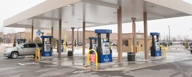 A new Sam's Club gas station at 15th and I-35 in Edmond, OK.