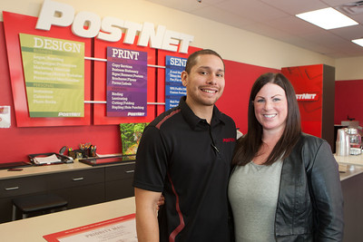 Tony and Lindsey Gervacio, owners of PostNet in Oklahoma City, OK.