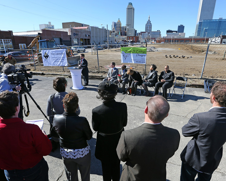 The Urban 8 Groundbreaking in downtown Tulsa Friday.