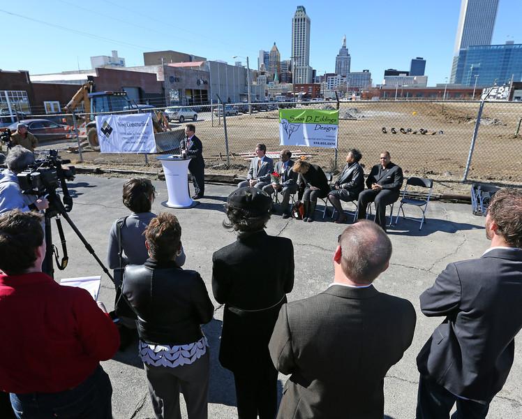 The Urban 8 Groundbreaking in downtown Tulsa Friday.