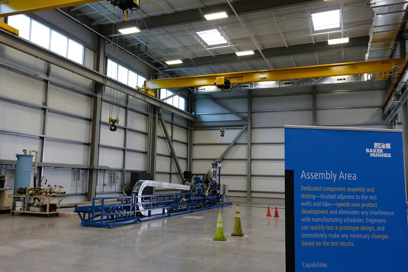 The assembly are at the Baker Hughes Artificial Lift Research and Technology Center in Claremore.
