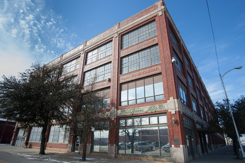 The Fred Jones Manufacturing Building located at 900 W Main in Oklahoma CIty, OK.