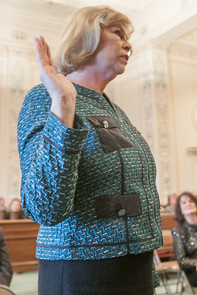 Renee DeMoss was sworn in as the 2014 Oklahoma Bar Association president at the Oklahoma State Capitol.