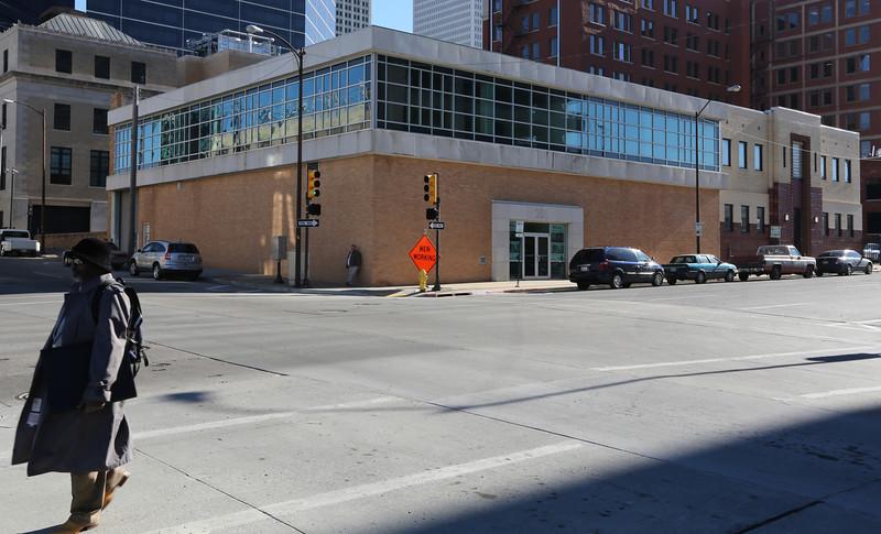 The future location of the Hilton Garden Inn in downtown Tulsa.