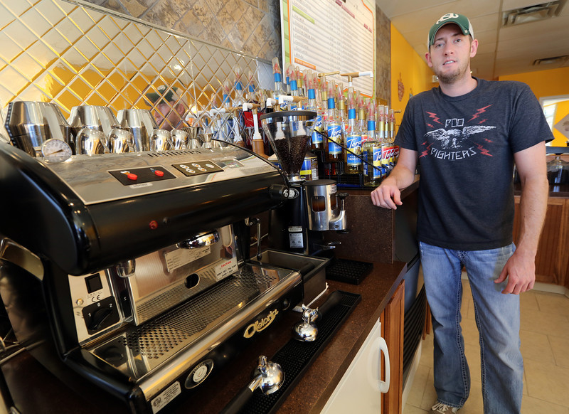 Nathan Johnston, Owner of the Java Daves coffee shop in south Tulsa.