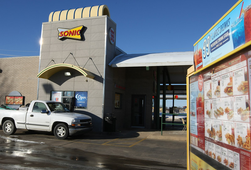 The Sonic at 108th & S Memorial in Bixby.  Happy hour drive through customers.