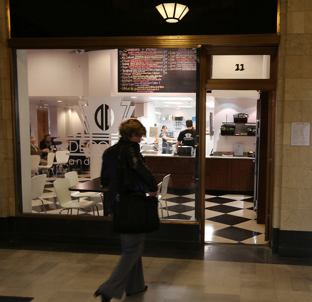 The Deco Deli in Tulsa's Atlas Life Building lobby opens Wednesday.