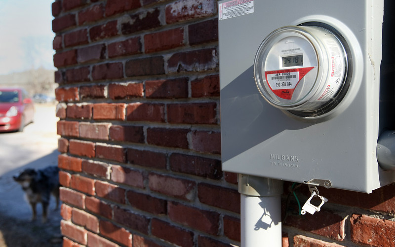 A Residential  electric meter.