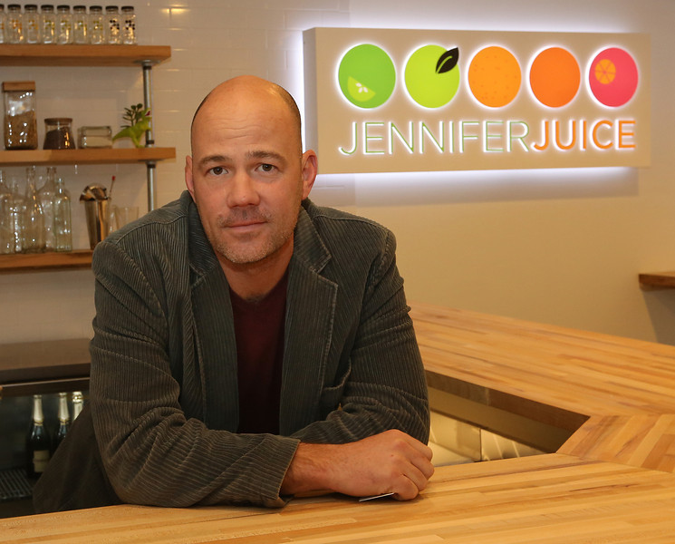 Sam Johnson, Co-founder or the Jennifer Juice cafe in the Phil tower building in downtown Tulsa.