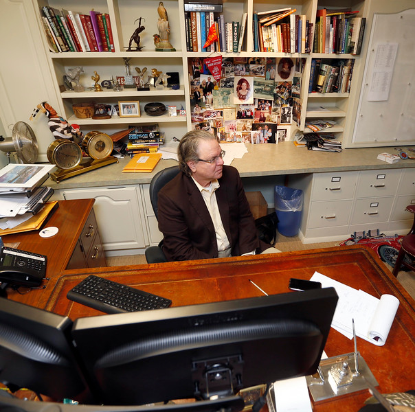 Richard Sevenoaks, President of the Leake Auction Company at his office in Tulsa.