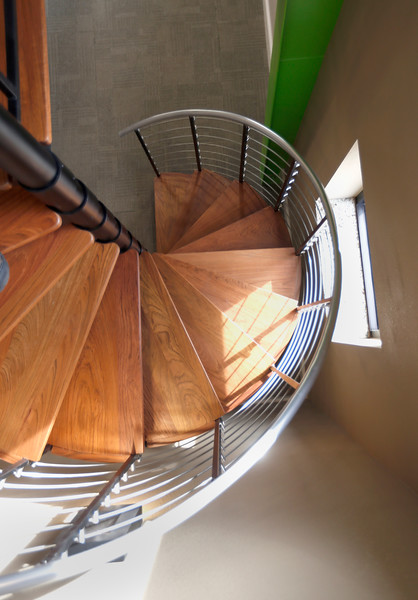 The KBI office circular stair.<br /> <br /> at 1999 North Birch Street, Jenks