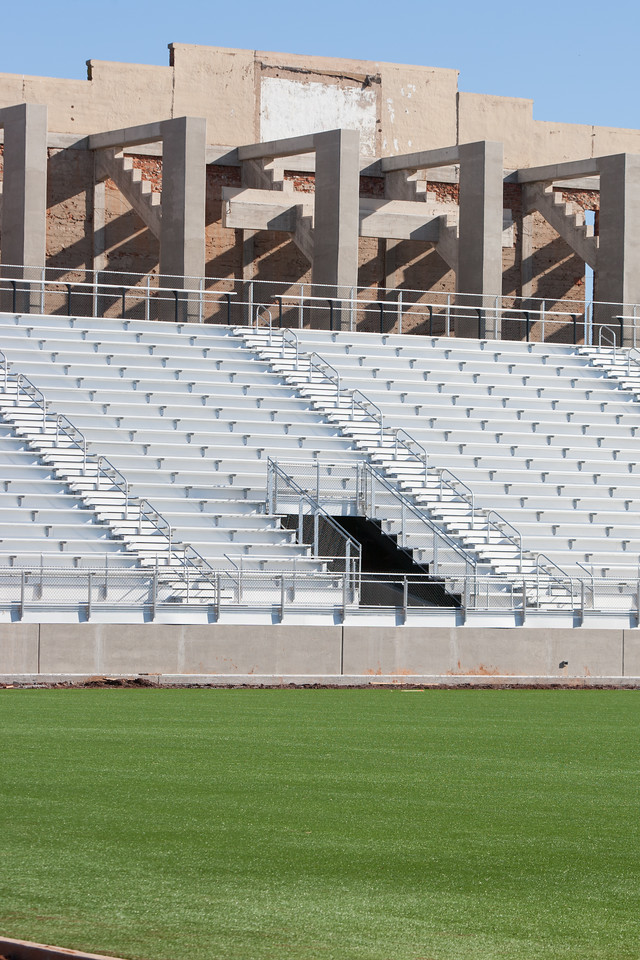 The stadium at Taft Middle School, located at NW 23rd and May in Oklahoma CIty,  is nearing completion.