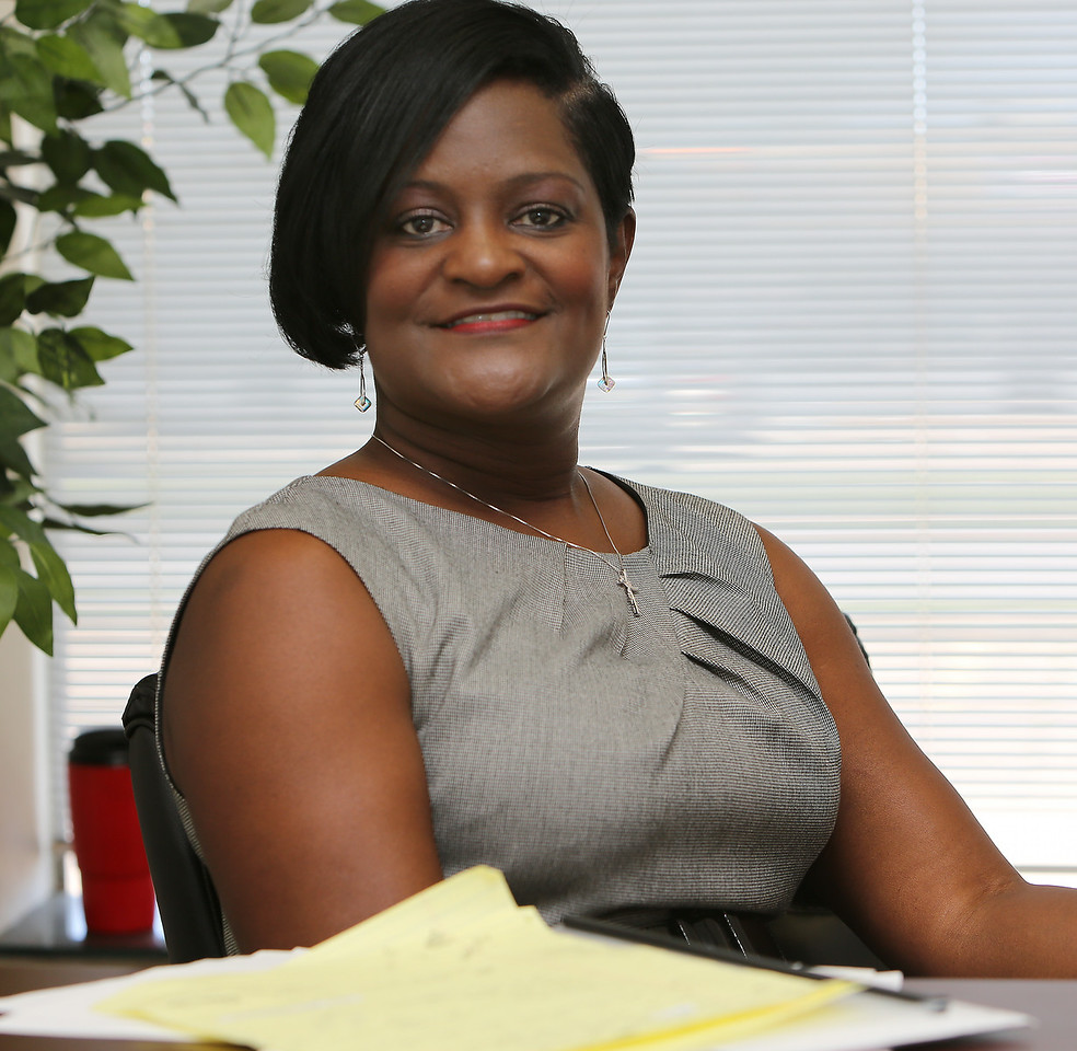 Gale Parker at A1 Staffing & Recruiting Agency pauses for a photo at her Tulsa office.