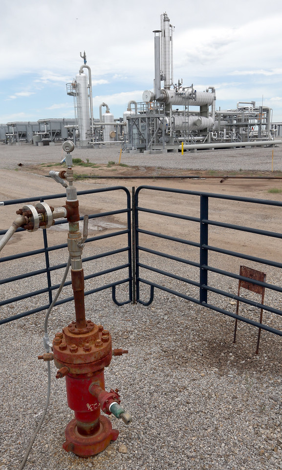 One of the Chaparral Energy's CO2 well injection compressor station  in Osage County.