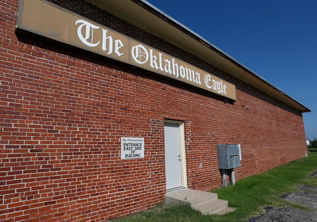 The Oklahoma Eagle newspapers office in the greenwood district near downtown Tulsa.