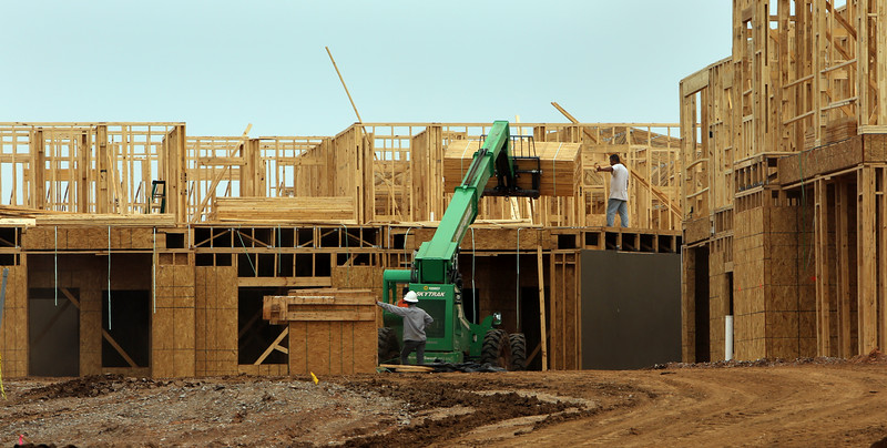 The Davis Village apartments under construction in south Tulsa.