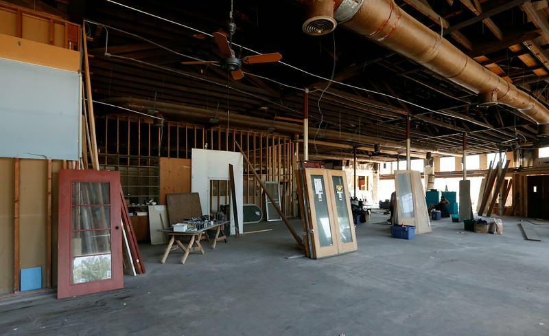 The Sweenys hardware store in the Whittier Square Shopping Center is being cleared in preparation for remodeling.