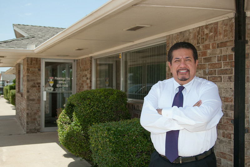 David Castillo at the new home of the Oklahoma City Hispanic Chamber of Commerce located at 3321 S Western.