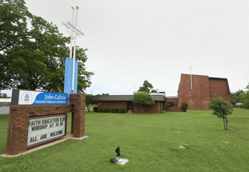 The John Calvin Presbyterian Church in east Tulsa.