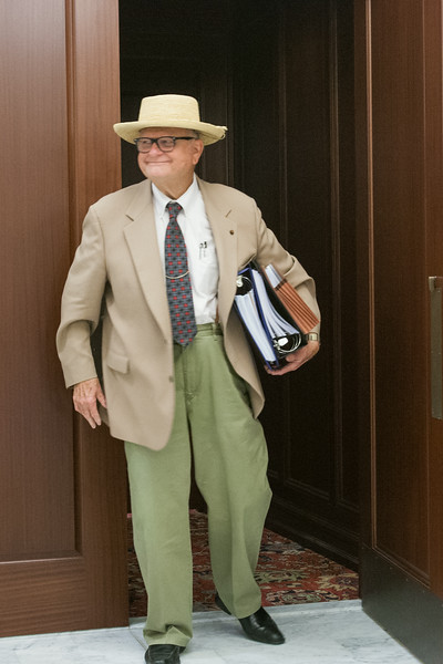Jerry Fent emerging from an Oklahoma Supreme Court hearing on Tuesday, July 29th.