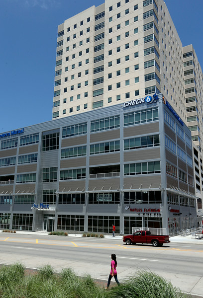 The west facade of the One Place Tower in downtown Tulsa.