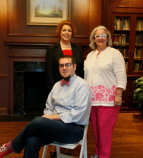 Tulsa Historical Society  Archivist and Curator of Collections Ian D. Swart, Director of Development Maggie Jewell and Executive Director Michelle Place, pause for a photo at the society museum in midtown.