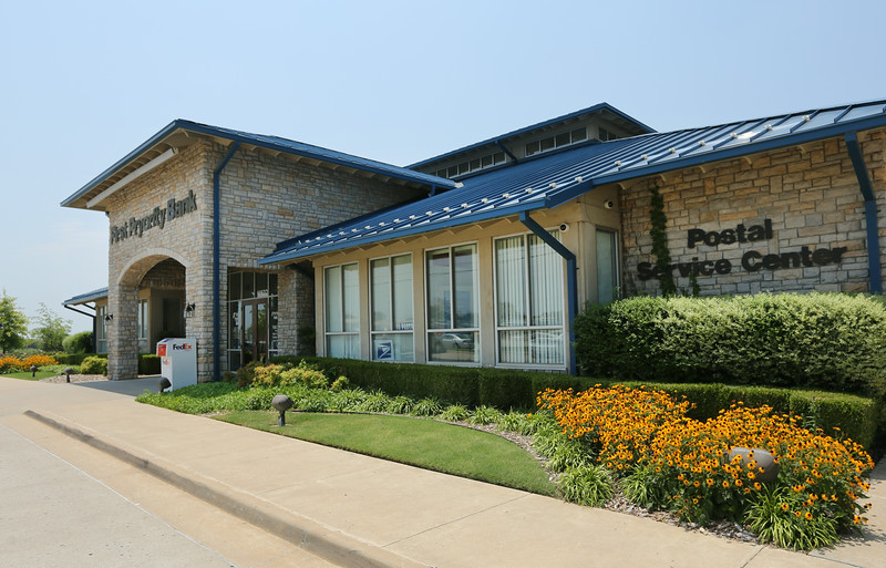 The First Pryority Bank in Bixby has a a postal service center at the location.