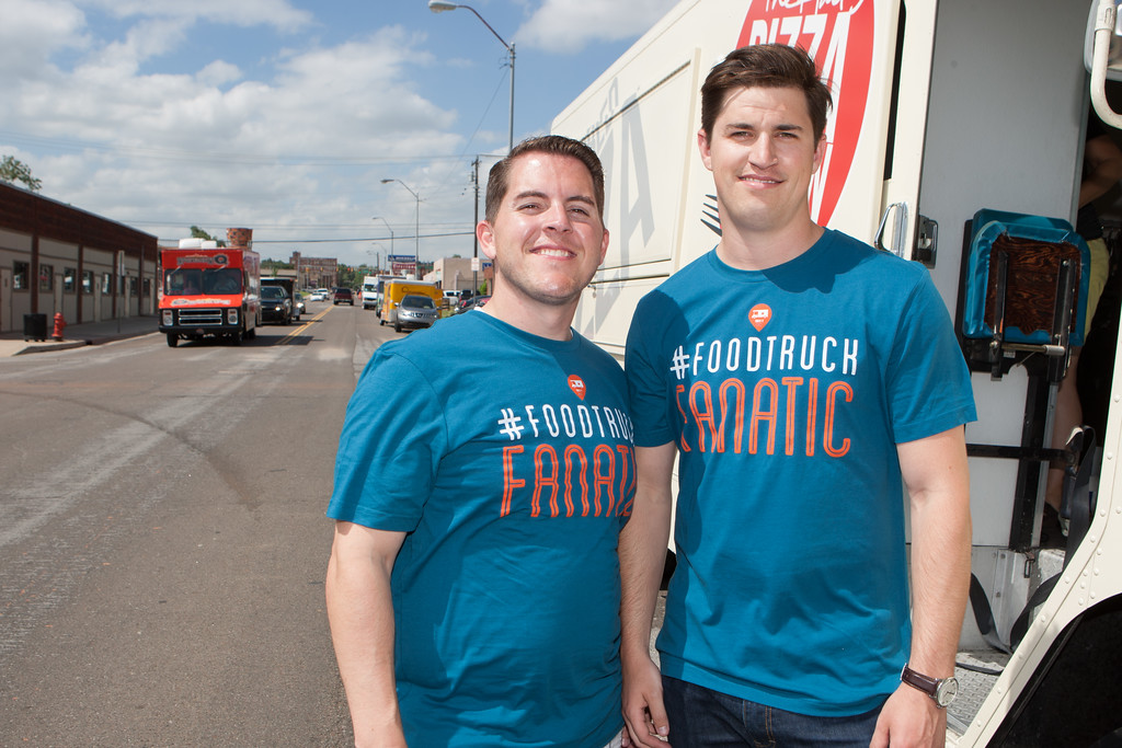 Cofounders Josh deLozier and Travis Stephens created the smart phone app Food Truck Fanatic to help users track food truck locations.