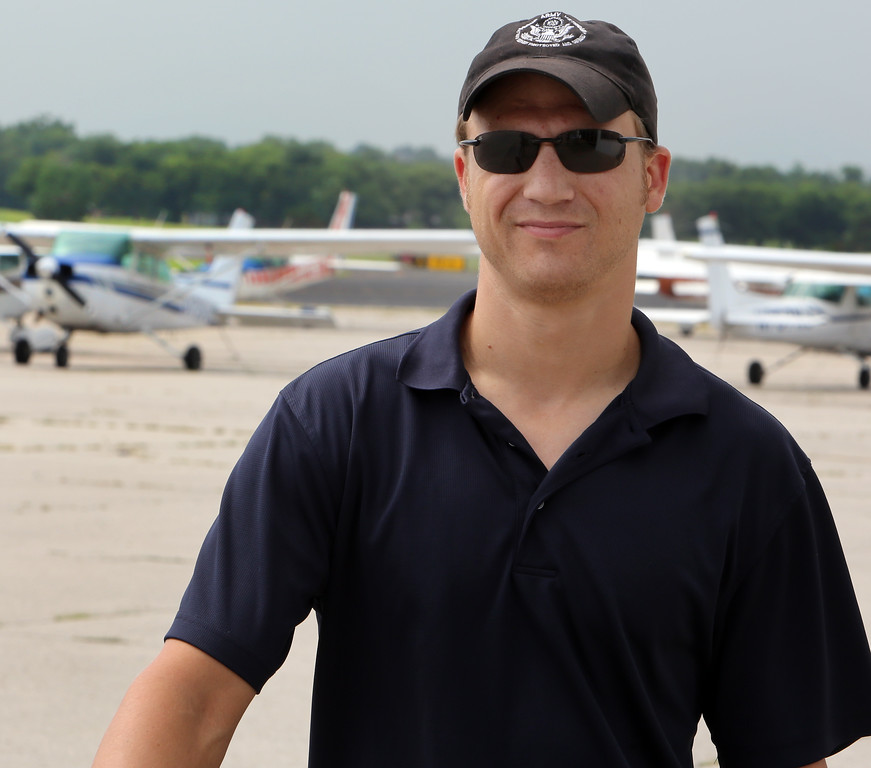 Greg Boyer, Chief Flight Instructor with Christian Aviation in Tulsa.