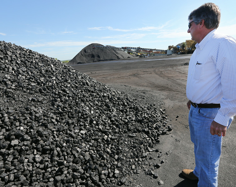 Clay Hartley, President of Phoenix Coal operations at a coal strip mine East of Nowata.