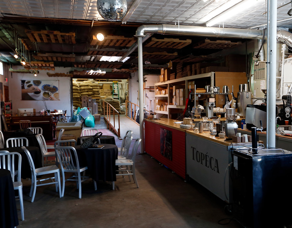 Topecca Coffee's downtown Tulsa factory.