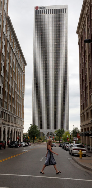 The Bank of Oklahoma building in downtown Tulsa.