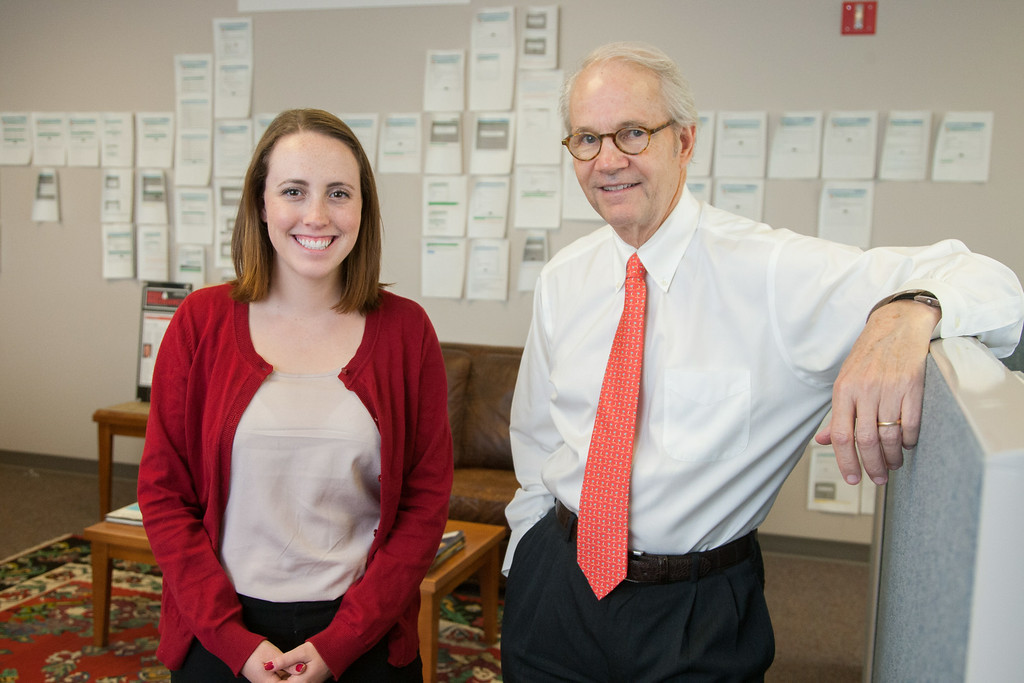 University of Oklahoma grad student Leslie Goodwin and Jeff Green, CEO of MedEncitive.