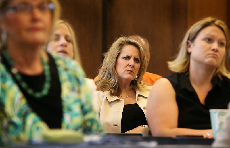 Audience members listen to presentations at the Tulsa Chamber of Commerce Health Care Forum discussing the advancement of telehealth applications in Oklahoma.<br /> <br /> featuring Steve Casady, B.S., Director of Telehealth