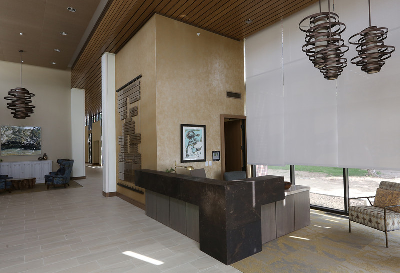 Work is nearing completion on the Tulsa Jewish Retirement & Health Center in south Tulsa.<br /> <br /> The Main lobby